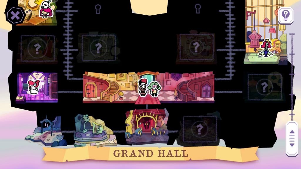 A screenshot showing the map screen